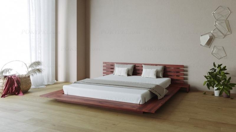 Двуспальная интерьерная кровать Самурай.